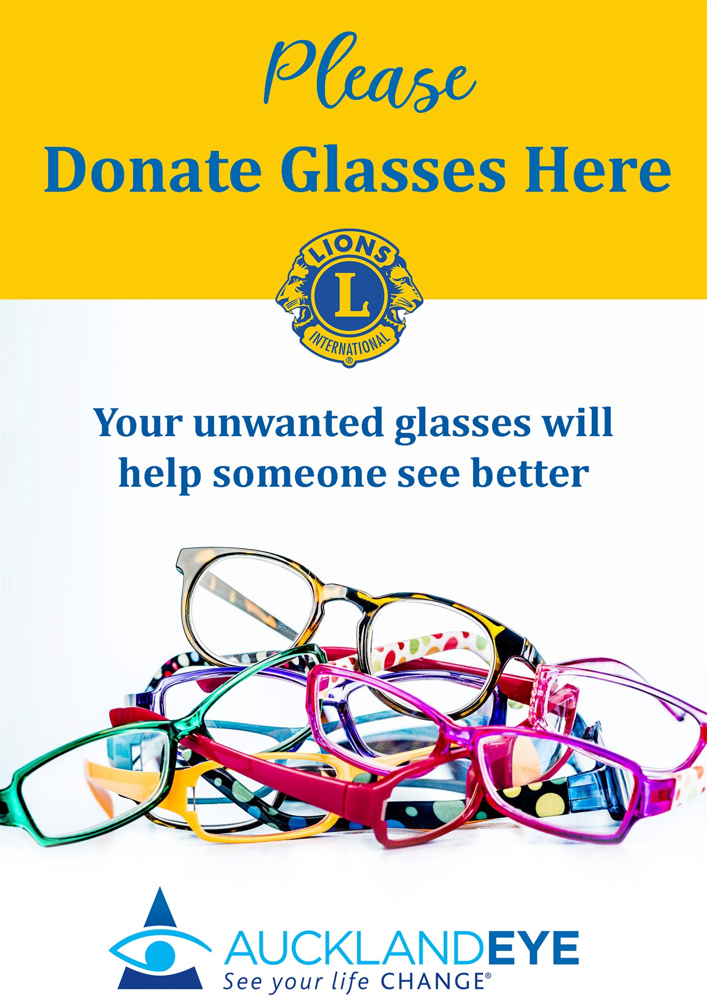 Donate Unwanted Glasses